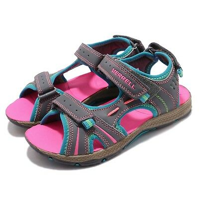 0145ad76ac5c Merrell Panther Grey Turq Pink Kid Preschool Sports Sandals Water Shoes  MC53428A