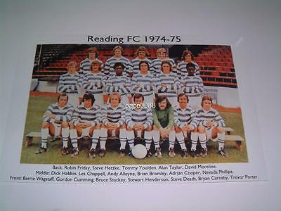 Reading Fc 1974-75 Robin Friday Steve Death Dick Habbin Photograph