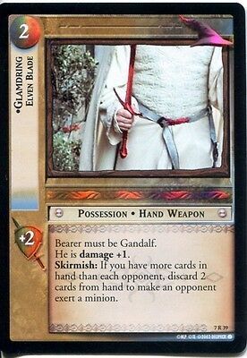 Lord of the Rings LOTR TCG -RoTK 7R39 Glamdring, Elven Blade Foil Card