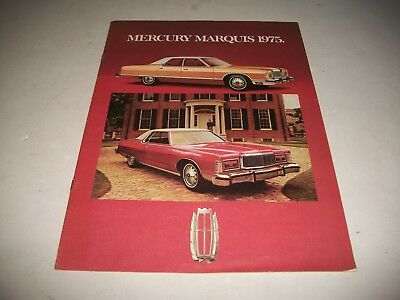 1975 Mercury Marquis Sales Brochure Catalog Grand Marquis Brougham