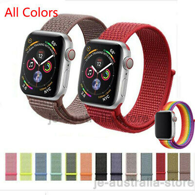 Replacement Woven Watch Band Nylon Strap For Apple Watch Series 4 iWatch 44/40mm
