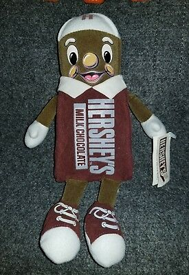 "1999 Vintage 9"" Hershey's Bean Plush Candy Bar Man w/tag Nice!"