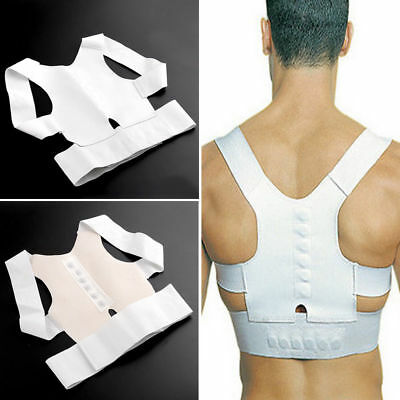 Effective Magnetic Back Brace Spine Lumbar Pain Relief Orthotics Posture Support