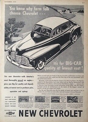 1946 Automobile Ad~New '46 Chevrolet Big-Car Quality Motor Car