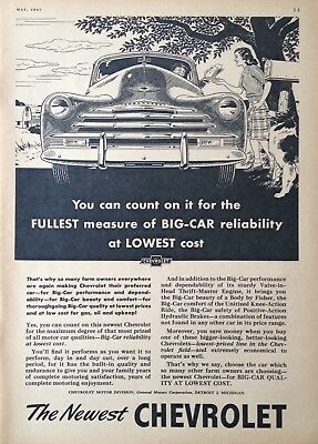 1947 Automobile Ad(A2)~Chevrolet Motor Division. Big-Car Quality