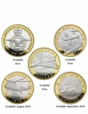 £2 Coins Two Pounds Raf Sea King & Lightning Ii Brilliant Uncirculated In Stock