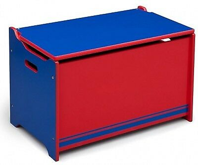 Delta Children Boys Toy Box Blue and Red
