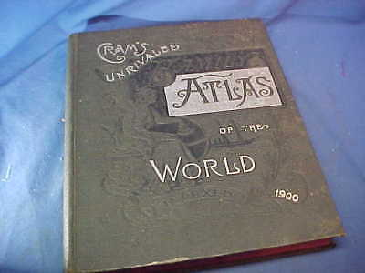 1900 CRAMS Unrivaled FAMILY ATLAS of The WORLD Very Clean