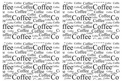 Galzone Set of 4 Placemats White Coffee Large Plastic Place Mat Food Preparation