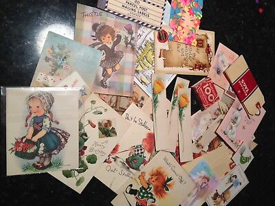 Vintage Greeting And Post Cards Various Occasions Lot Of 30+ Paper Items