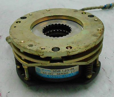 Ogura Clutch Brake Unit, MNB 1.2G-06, 24 VDC, Off Mazak VQC-15/40, Used