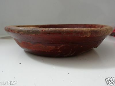 Vintage  Chinese Manchu Traditional  Wooden Bowl
