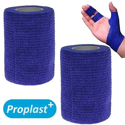 2x FIRM COHESIVE BANDAGE ROLLS Strapping Tape Self Adhesive Minor Sports Injury
