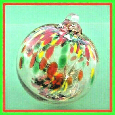 "Hanging Glass Ball 4"" Diameter ""Autumn Tree"" Witch Ball (1) GB3/HB1"