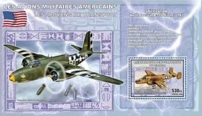 Congo - Military Airplanes - Stamp s/s 3A-252