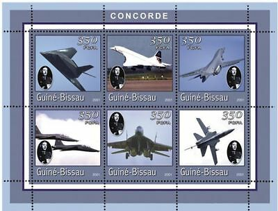 Guinea-Bissau - Concorde Plane Sheet of 6 Stamps GB1440