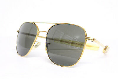 Vtg Randolph Engineering RE Pilot Gold Sunglasses ao USAF Air Force + Case USA