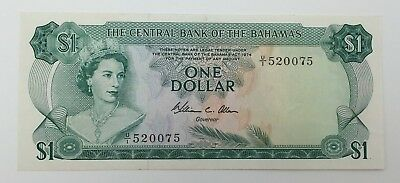 1974 Central Bank of the Bahamas One Dollar Note P:35b Uncirculated