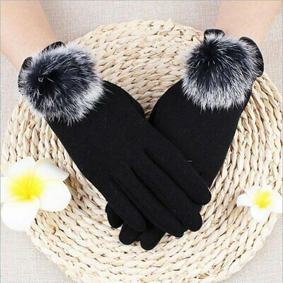 Ladies Womens Winter Warm Thick Fleece Lined Thermal Button Touch Screen Gloves