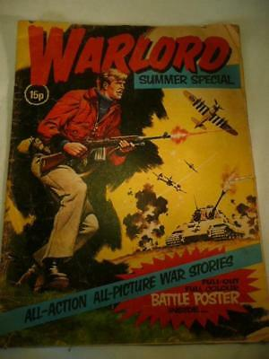 Vintage Warlord Summer Special 1975 Comic With Pull Out Battle Poster