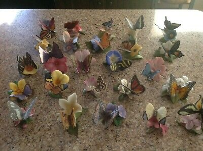 Franklin Mint Butterflies Of The World (26) Total Pieces