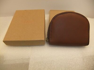 Longaberger Zippered Leather Credit Card Case