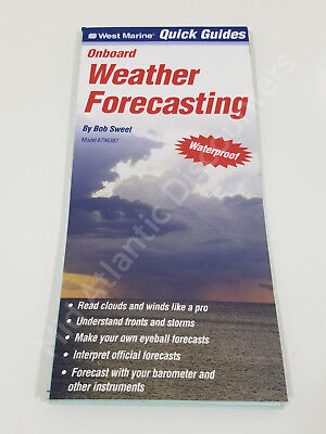West Marine Quick Guides Onboard Weather Forecasting, Captain Waterproof 6796387