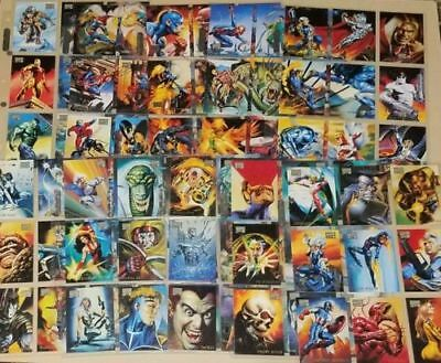Rare 1996 'Marvel Masterpieces Complete 100 +6 Double Impact + 6 Gold Gallery NM