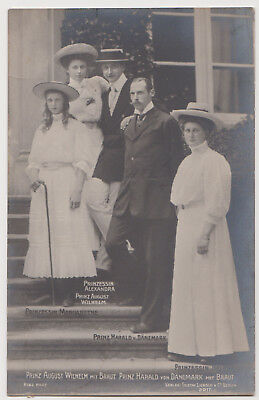 Royalty PC - Prince Harald of Denmark and August Wilhelm of Prussia with brides