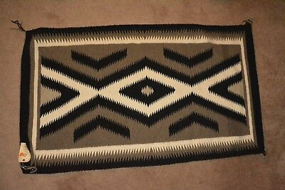 "Vintage Navajo rug  32"" x 54""  from sunrise trading post sold at museum of NAZ"