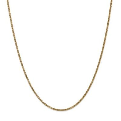 14k Yellow Gold 16in 1.1mm Solid Polished Spiga Necklace Chain