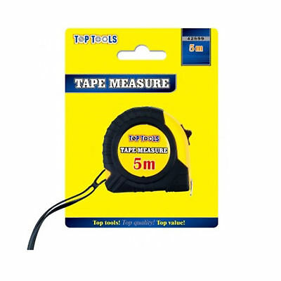 5 Metre Top Tools Tape Measure Different Lengths Auto Lock Rubberised Diy