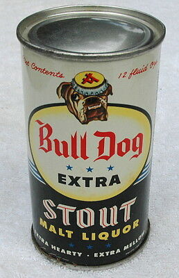 Vintage Bull Dog Extra Stout Flat Top Beer Can, Acme Brewery S.F., Near Mint!
