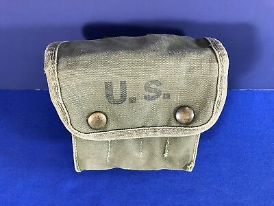 US WWII Jungle First Aid Pouch Dated 1943 w/ 1st Aid Packet (Carlisle) Original
