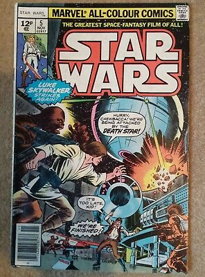 Star Wars Marvel Comic #5 Number 5 November 1977 **rare** Death Star  Volume 1