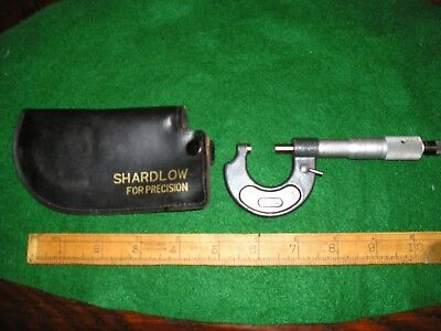 Shardlow Micrometers Ltd Sheffield, Metric & Imperial Micrometer With holster.