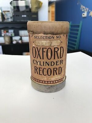 Oxford Cylinder Record 1912