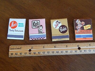 lot of 4 different FS Big Boy matchbooks