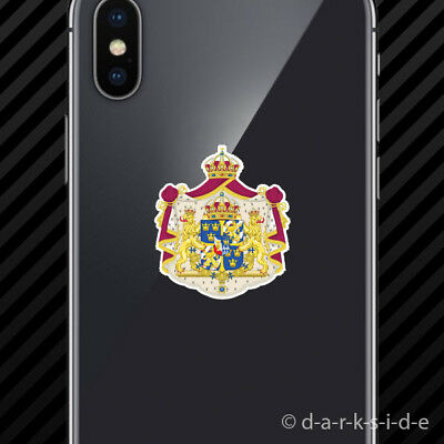 2x Swedish Coat of Arms Cell Phone Sticker Mobile Sweden flag SWE SE