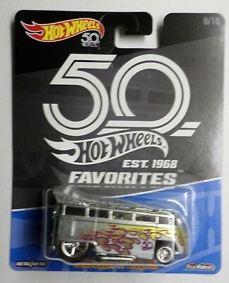 Hot Wheels 50th Favorites B Case Volkswagen VW T1 Drag Bus Now Shipping In Stock