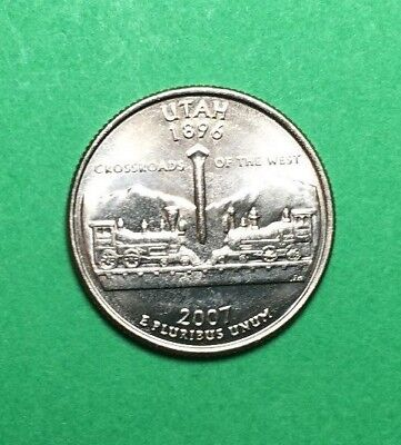 2007 D Utah Statehood Quarter BU Condition