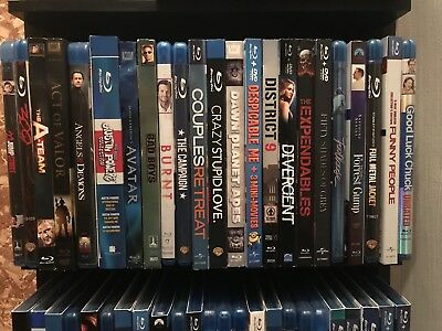 Large Lot of Blu-Ray Movies. Titles Will Be Shown In The Pictures. 75 Total.