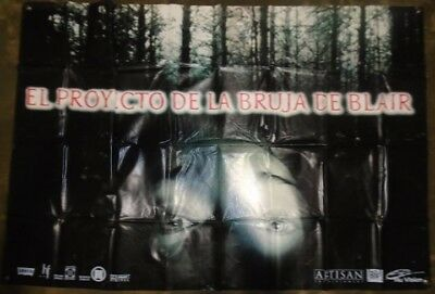 THE BLAIR WITCH PROJECT (1999) vinyl movie theater banner LARGE ULTRARARE