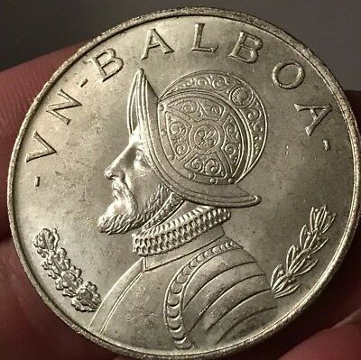 1966 Panama Silver One Balboa-Very Nice! Great Details!