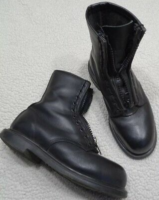 Vtg RED WING SHOES Black Leather Steel Toe Zip Ankle Work Biker Boots Mens 9.5