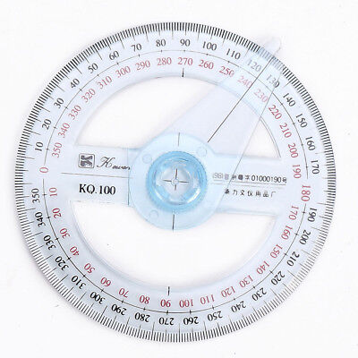 Plastic 360 Degree Protractor Ruler Angle Finder Tool School Office Supplies New