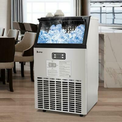 100LB/24H Self Contained Undercounter 5 Accessories Commercial Ice Maker 115V