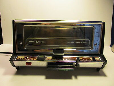 Vintage GE General Electric Deluxe Toaster Oven Toast R Oven Chrome Very Shiny!