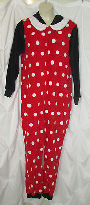 REDUCED Minnie Mouse hooded jumpsuit Halloween costume adult XL