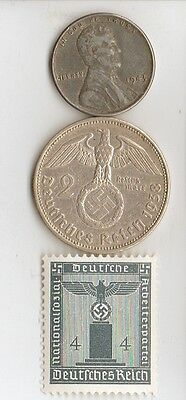 -* WWII - *US  and  *german  coins / stamps+..